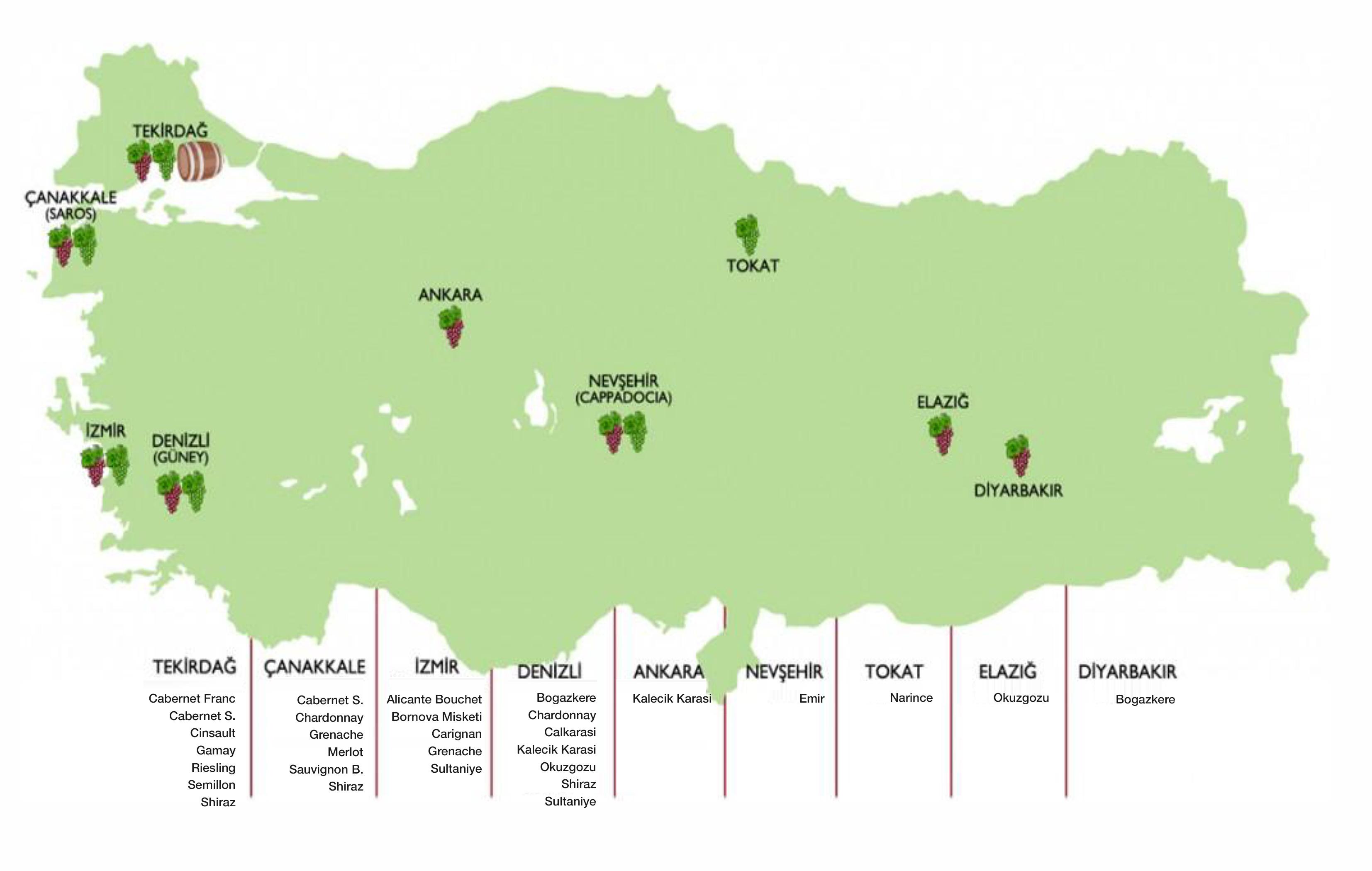 wijnkaart-Turkiye